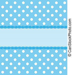 Blue Polkadot Background - A blue and white polka dot back...