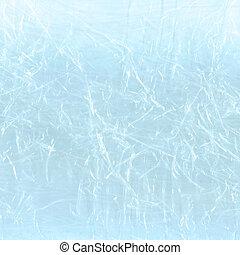 Blue polyethylene backdrop. Blue cellophane packaging
