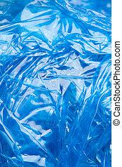 blue polyethylene texture