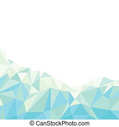 Blue polygonal abstract background