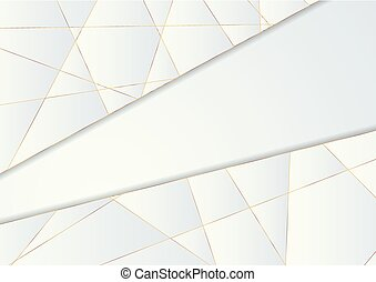 Blue polygonal abstract background with golden lines