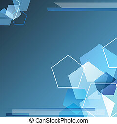 Blue polygonal Background - Blue polygonal technology ...