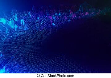 Blue polygonal landscape background