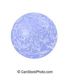 Blue Polygonal Sphere