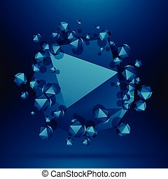 blue polyherons background