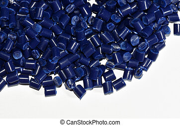blue polymer resin - blue dyed polymer resin on white...