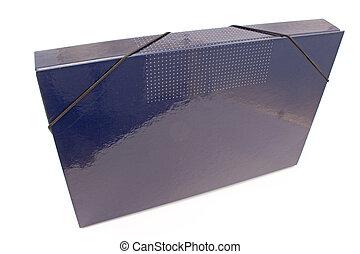 Blue portfolio folder isolated on white