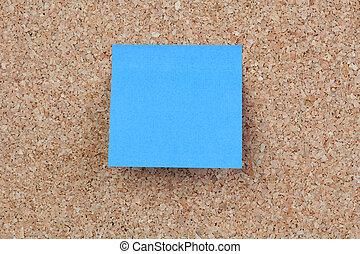 Blue post-it