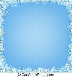 Blue Poster With Winter Border