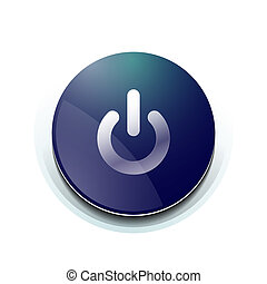 Blue power button design