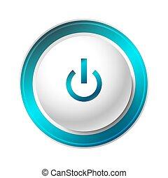 Blue Power Button.