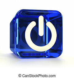 Blue Power On Icon