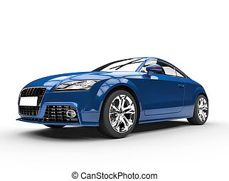 Blue Powerful Car - Extremly high resolution 3D render of a...