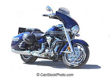 motorcycle on white background