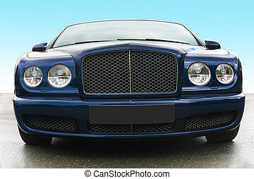 prestige of car frontal - blue prestige of car frontal on...