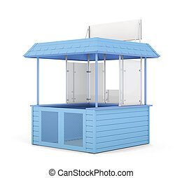 Blue promo counter isolated. 3d rendering