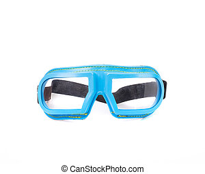 Blue protective glasses. Isolated on a white background.
