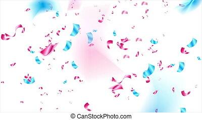Blue purple glitter confetti abstract video animation