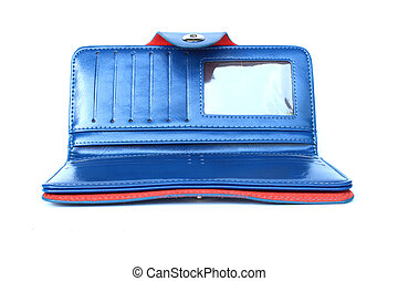 blue purse on isolated