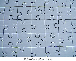 Blue puzzle - A blue puzzle