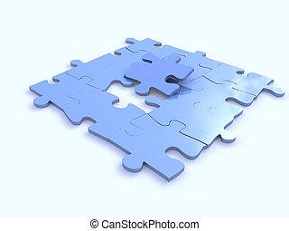 blue puzzles