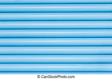 Blue pvc pipes in line for background texture