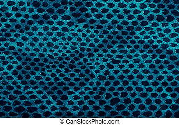 Blue python snake skin texture background.