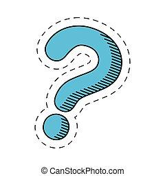 blue question mark image vector illustration eps 10