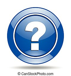 Blue question mark vector icon