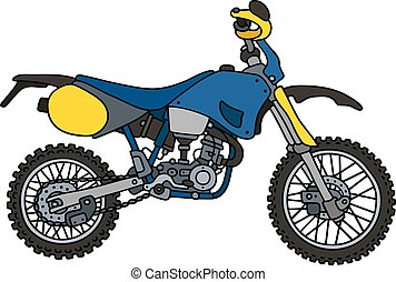 Blue racing motorcycle