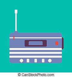 Blue radio box