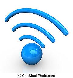 Blue Radio Symbol