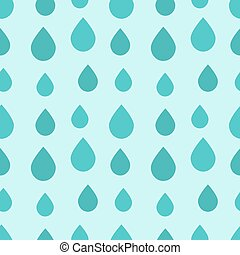 Blue rain drops seamless pattern