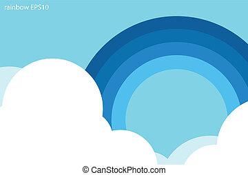 Blue rainbow background