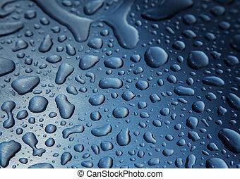 Blue raindrop background