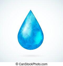 Blue raindrop geometric vector background