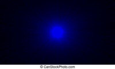 blue ray light in dark space