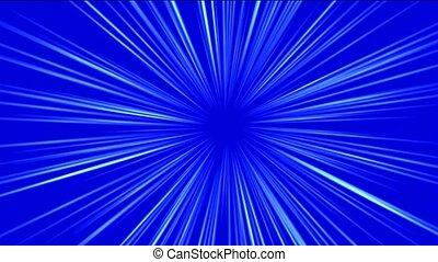 blue rays light and fiber optic