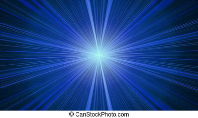 Blue Rays of Light, Twinkling Light Streaks