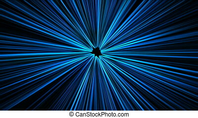 Blue rays abstract background (seamless loop)