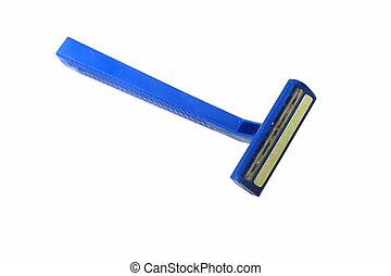 Blue razor isolated