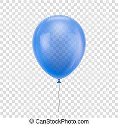 Blue realistic balloon.