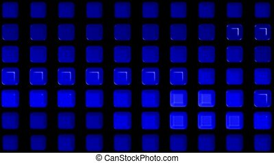 blue rectangle matrix disco background