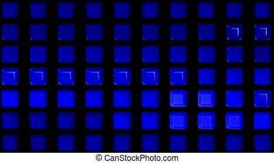 blue rectangle matrix disco pattern