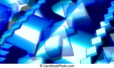 Blue rectangles