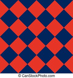 Blue Red Chess Board Diamond Background
