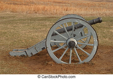 Blue Redan Cannon - Blue redan cannon at Valley Forge...