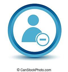 Blue remove user icon