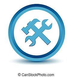 Blue repair icon