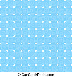 Blue repeat swirl background with abstract geometric seamless textured pattern